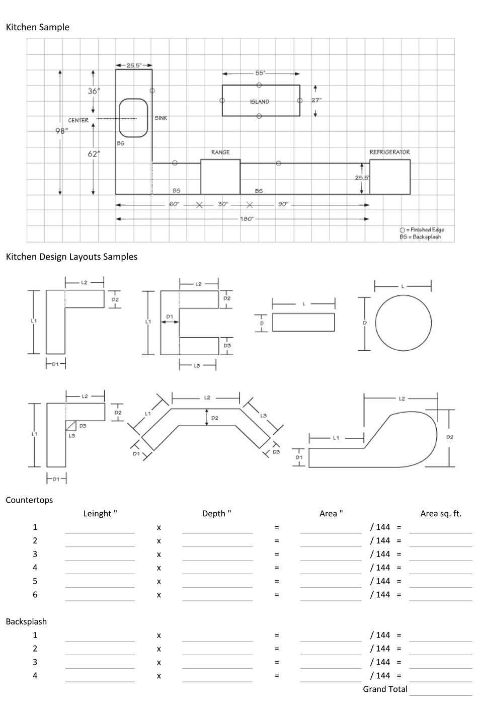 Beautiful Instructions For Measuring Countertop